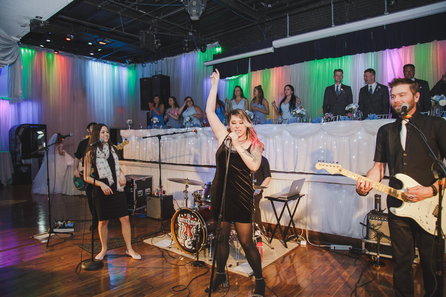 a live wedding band at Profile Event Center