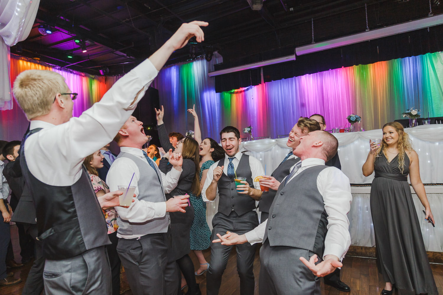 dancing during a wild wedding party at Profile in Minneapolis