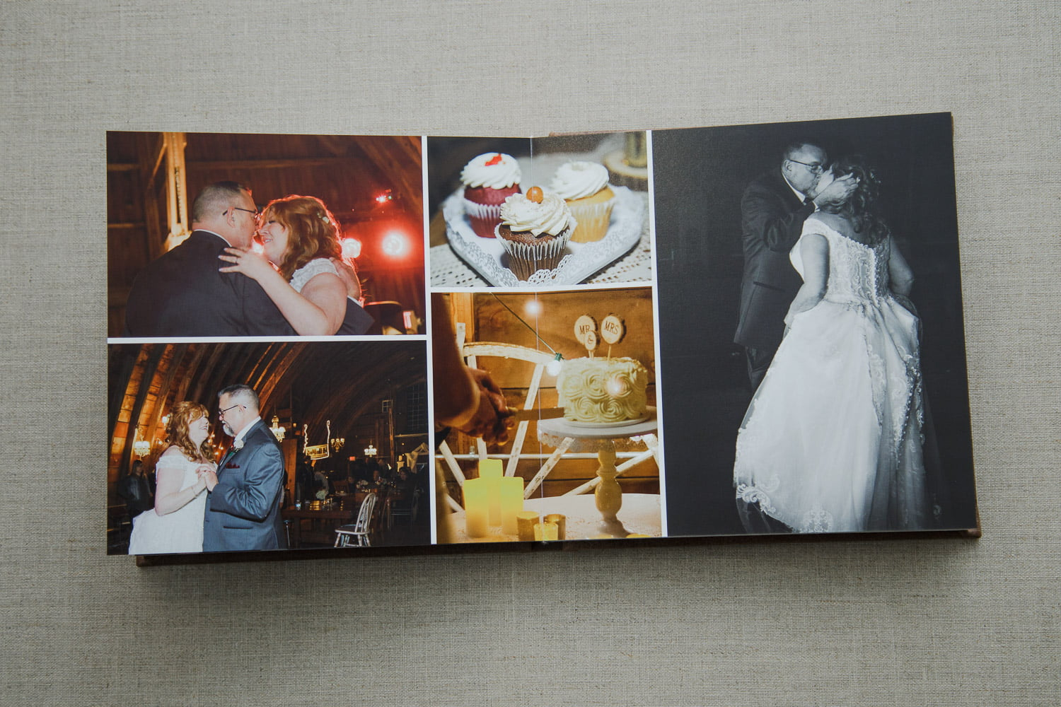 personalized wedding albums with first dance pictures