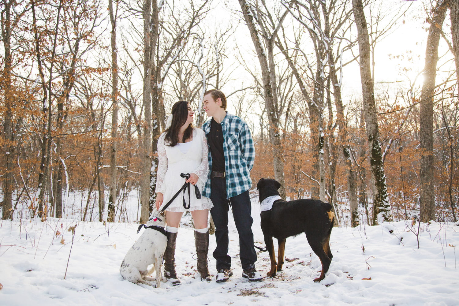 posing for portraits with your pets at lake maria