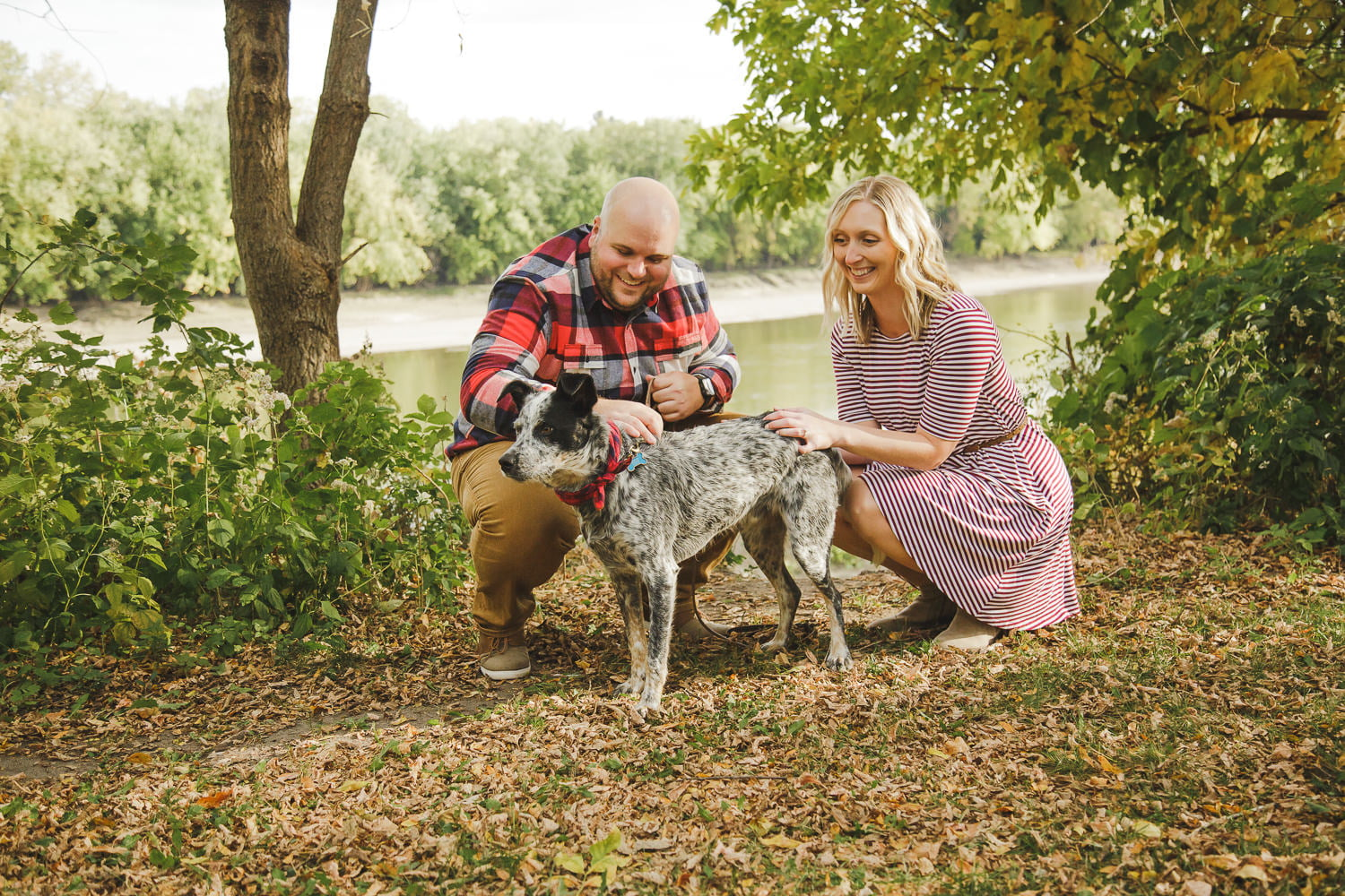 engagement photos in st peter with your dog